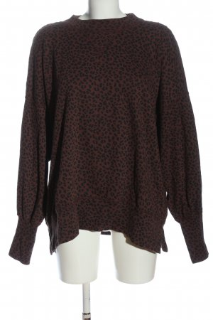 Abercrombie & Fitch Sweat Shirt brown-black leopard pattern casual look