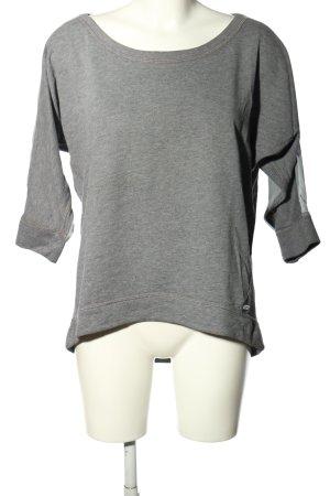 Abercrombie & Fitch Sweatshirt hellgrau-weiß meliert Casual-Look