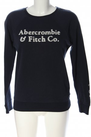 Abercrombie & Fitch Sweat Shirt blue-white casual look