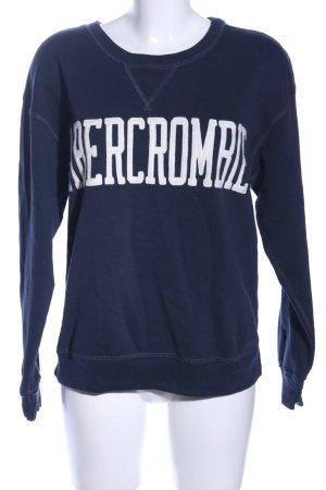 Abercrombie & Fitch Sweatshirt blau Schriftzug gedruckt Casual-Look