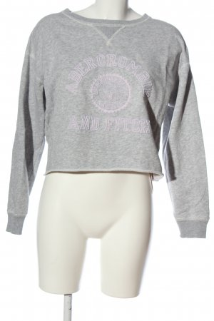 Abercrombie & Fitch Sweatshirt hellgrau meliert Casual-Look