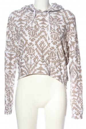 Abercrombie & Fitch Sweatshirt braun-weiß abstraktes Muster Casual-Look