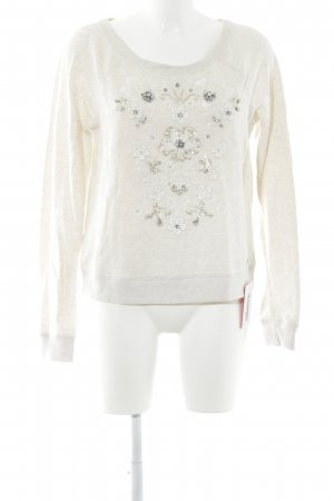 Abercrombie & Fitch Sweatshirt creme meliert Casual-Look