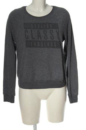 Abercrombie & Fitch Felpa grigio chiaro puntinato stile casual