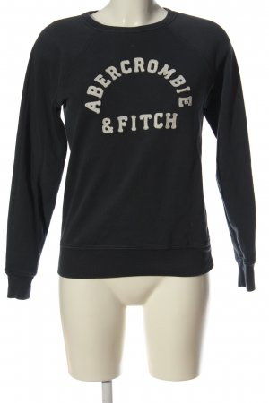 Abercrombie & Fitch Sweatshirt schwarz Schriftzug gedruckt Casual-Look