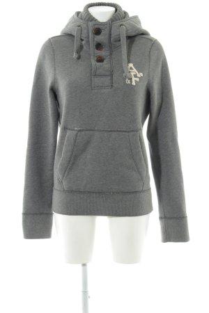 Abercrombie & Fitch Sweatshirt hellgrau Motivdruck Casual-Look
