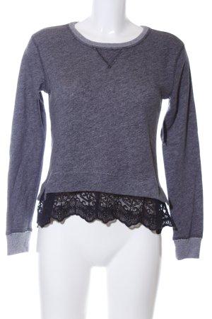 Abercrombie & Fitch Sweatshirt lila-schwarz Casual-Look