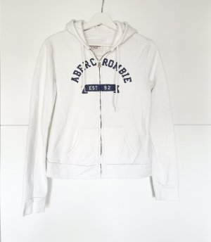 Abercrombie & Fitch Hooded Sweater white-blue