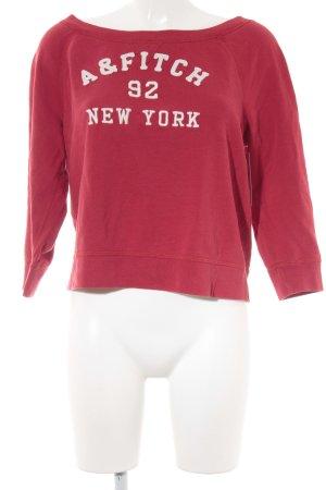Abercrombie & Fitch Sweatshirt rot-weiß sportlicher Stil