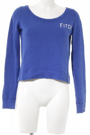 Abercrombie & Fitch Sweatshirt weiß-blau Casual-Look