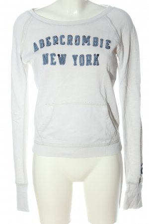 Abercrombie & Fitch Sweatshirt wit gedrukte letters casual uitstraling