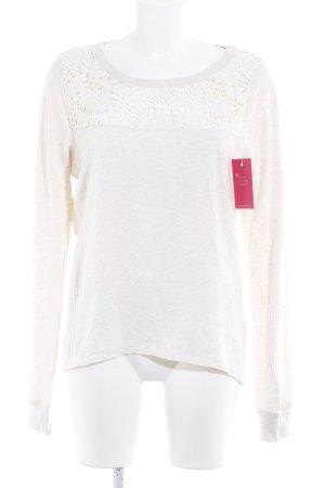 Abercrombie & Fitch Sweatshirt wollweiß Casual-Look