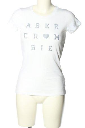 Abercrombie & Fitch T-Shirt hellgrau Schriftzug gedruckt Casual-Look