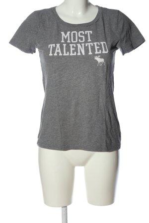 Abercrombie & Fitch Camiseta gris claro-blanco moteado look casual