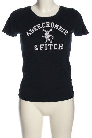 Abercrombie & Fitch T-Shirt schwarz-weiß Motivdruck Casual-Look