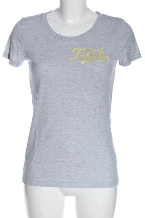 Abercrombie & Fitch T-shirt lichtgrijs-licht Oranje elegant