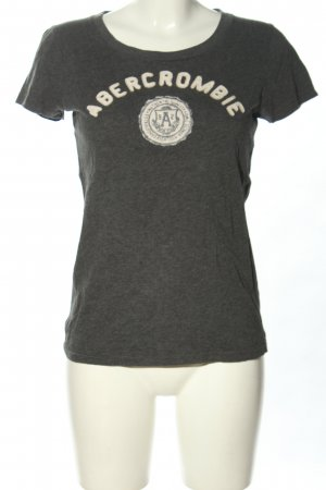 Abercrombie & Fitch T-Shirt hellgrau-wollweiß meliert Casual-Look