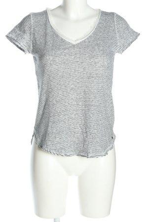 Abercrombie & Fitch T-Shirt schwarz-weiß Streifenmuster Casual-Look