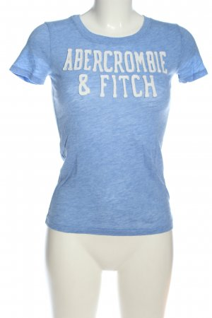 Abercrombie & Fitch T-Shirt blau-weiß meliert Casual-Look