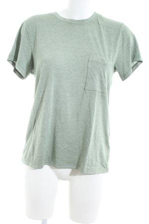 Abercrombie & Fitch T-Shirt grün meliert Casual-Look