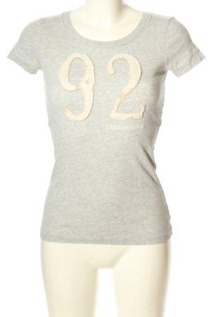 Abercrombie & Fitch T-Shirt hellgrau-wollweiß meliert Casual-Look