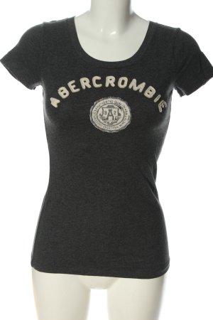Abercrombie & Fitch T-shirt gris clair-blanc moucheté élégant
