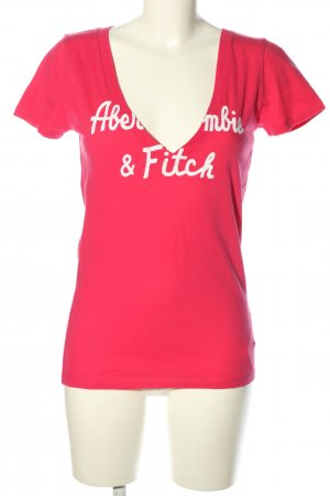 Abercrombie & Fitch T-Shirt pink Schriftzug gedruckt Casual-Look