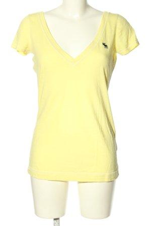 Abercrombie & Fitch T-Shirt blassgelb Casual-Look
