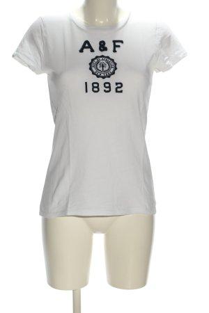 Abercrombie & Fitch T-Shirt weiß-schwarz Motivdruck Casual-Look
