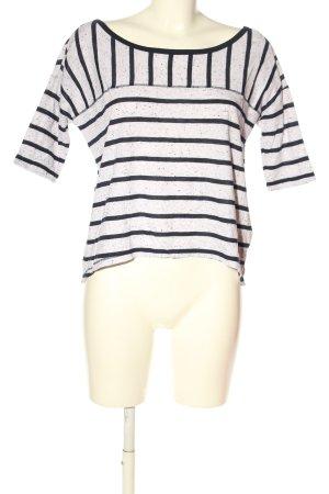Abercrombie & Fitch T-Shirt weiß-schwarz meliert Casual-Look