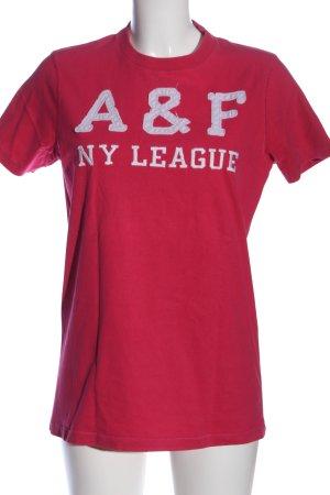 Abercrombie & Fitch T-Shirt pink Schriftzug gestickt Casual-Look