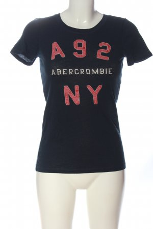 Abercrombie & Fitch T-Shirt schwarz-pink Schriftzug gedruckt Casual-Look