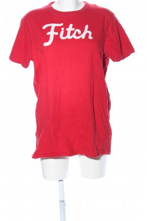Abercrombie & Fitch T-shirt rood gedrukte letters casual uitstraling