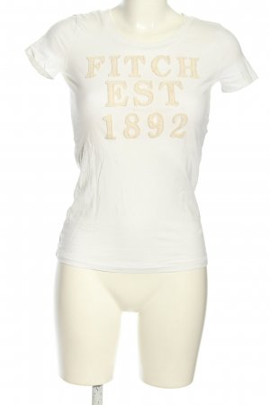 Abercrombie & Fitch T-Shirt weiß-creme Casual-Look