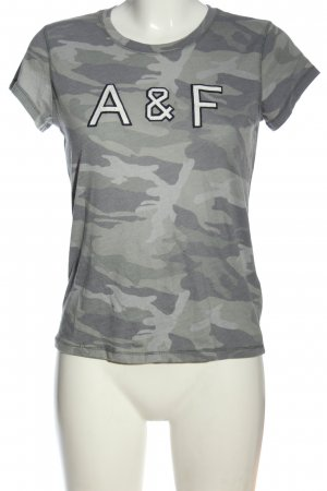 Abercrombie & Fitch T-Shirt hellgrau-khaki Camouflagemuster Casual-Look