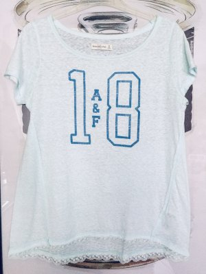 Abercrombie & Fitch Camiseta estampada turquesa-azul aciano