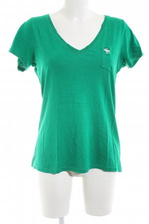 Abercrombie & Fitch T-shirt groen casual uitstraling