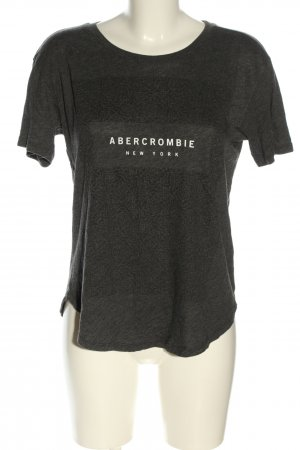 Abercrombie & Fitch T-shirt lichtgrijs-wit gedrukte letters casual uitstraling