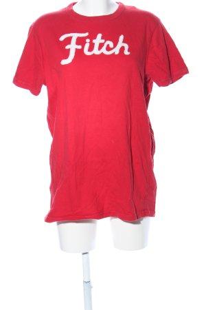 Abercrombie & Fitch T-Shirt rot Schriftzug gedruckt Casual-Look
