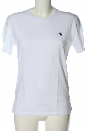 Abercrombie & Fitch T-shirt bianco stile casual