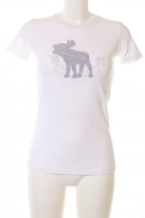 Abercrombie & Fitch T-Shirt weiß Motivdruck Casual-Look