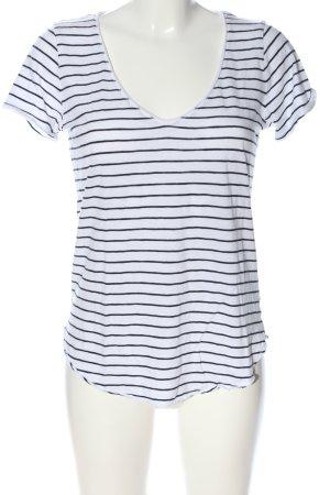 Abercrombie & Fitch T-Shirt weiß-schwarz Streifenmuster Casual-Look