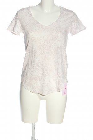 Abercrombie & Fitch T-Shirt wollweiß-pink Allover-Druck Casual-Look