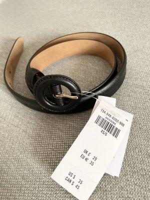 Abercrombie & Fitch Cinturón pélvico negro-color oro