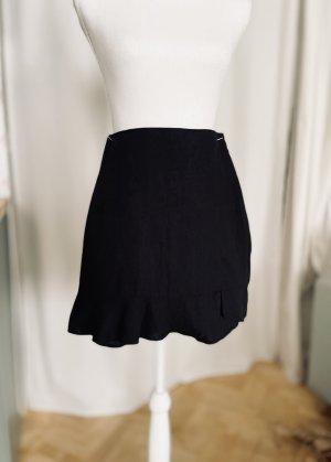 Abercrombie & Fitch Jupe en lin noir lin