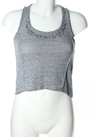 Abercrombie & Fitch Canotta grigio chiaro puntinato stile casual