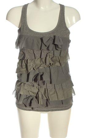 Abercrombie & Fitch Camiseta sin mangas gris claro moteado look casual