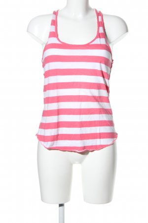 Abercrombie & Fitch Tanktop wit-roze gestreept patroon casual uitstraling