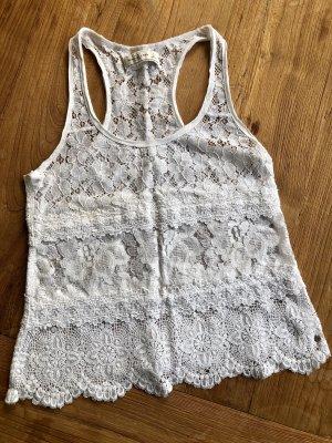 Abercrombie & Fitch Camiseta sin mangas blanco
