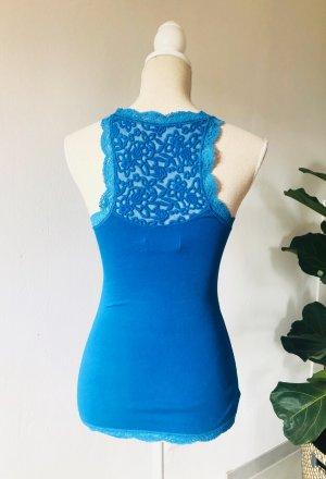 Abercrombie & Fitch Canotta a bretelle blu neon Cotone